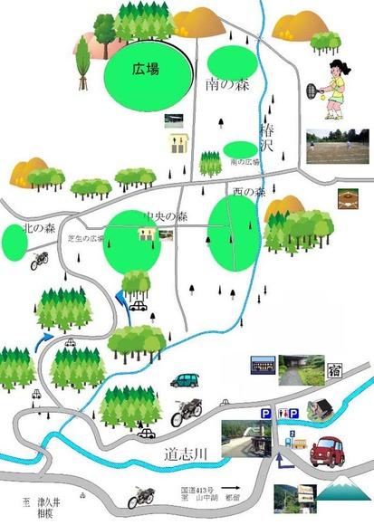 キャンプ場地図