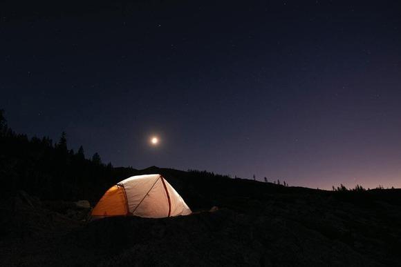 テント泊の夜