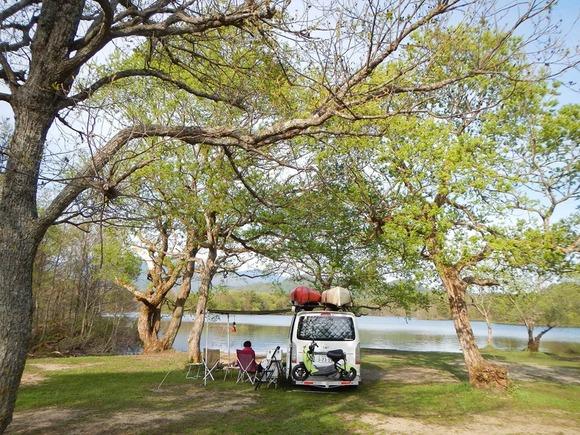 福島の湖でキャンプ