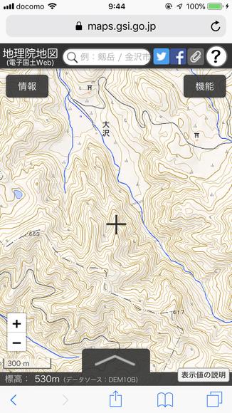 地図等高線