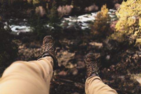 登山靴自撮り