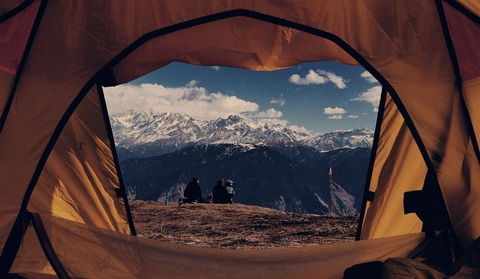 テント内からの景色