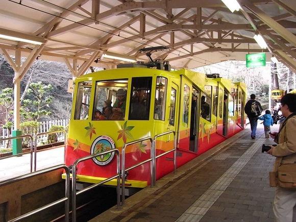 高尾山のケーブルカー  (1)