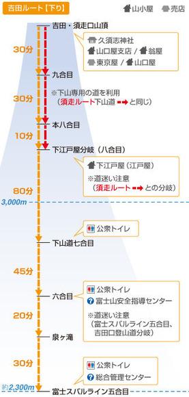 吉田ルート下山道