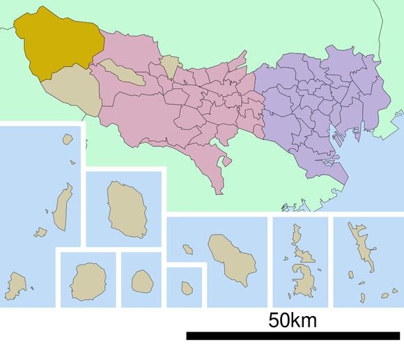 奥多摩町位置図 (1)