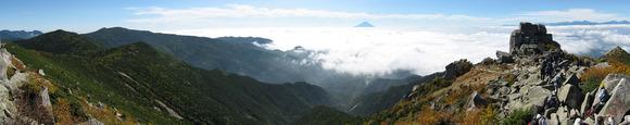 金峰山頂から南側の眺望