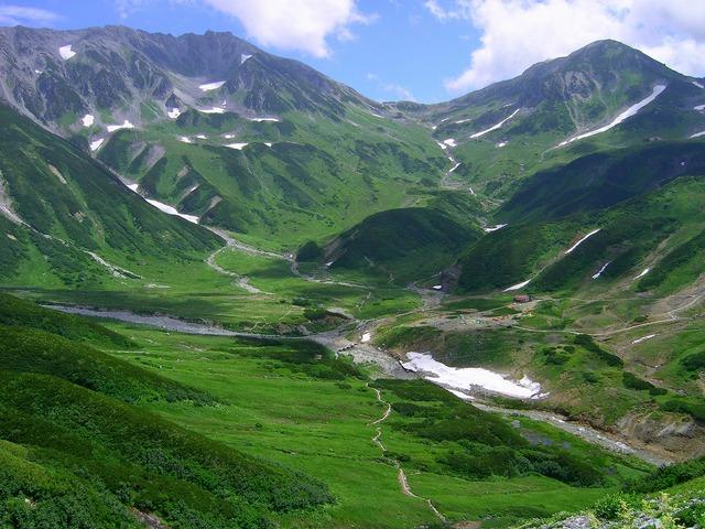 立山の登山道