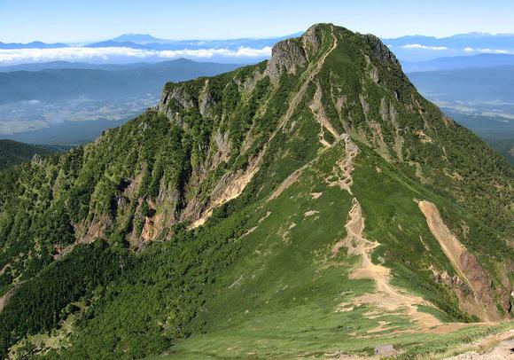 赤岳から見た阿弥陀岳