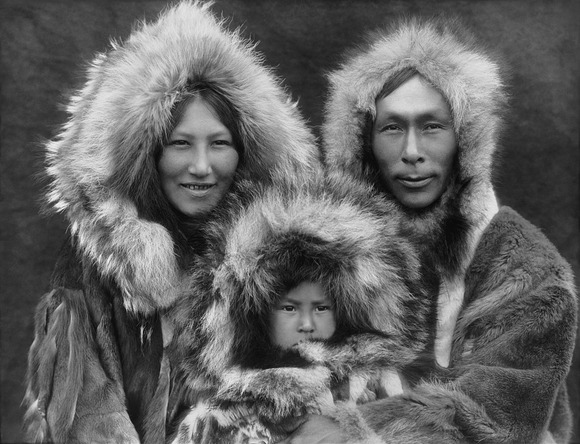 An Inupiat family from Noatak, Alaska, 1929.