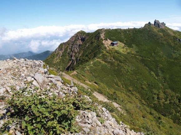 東ギボシ山頂から権現岳 (1)