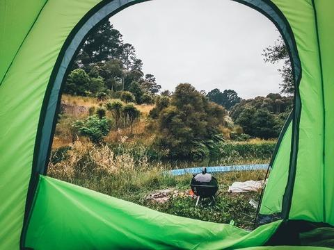 テントの外の景色