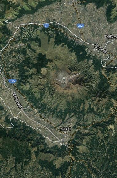 阿蘇山俯瞰
