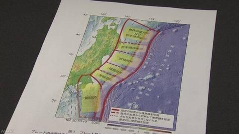 地震の確率の図