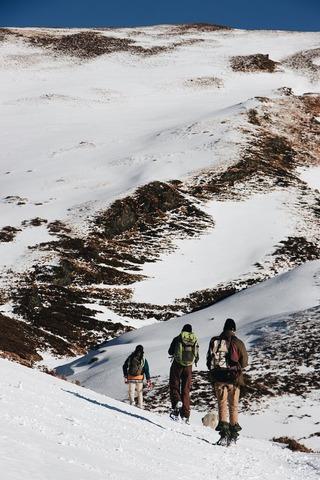 雪山登山者たち