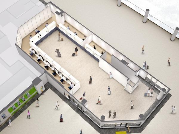 関西空港駅「みどりの窓口」室内イメージ