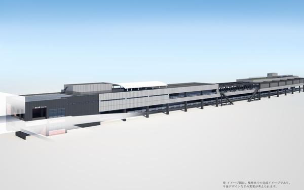 駅舎イメージ図(東口側)