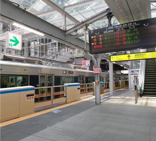 可動式ホーム柵の設置イメージ/大阪駅(提供用) (NXPowerLite)