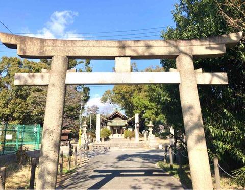 大鳥五社明神の一社 堺市西区浜寺元町にある穴戸武媛命を祀る大鳥北浜神社