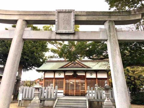 江戸時代に養蚕業が盛んだった土地・松原市田井城にある田坐神社