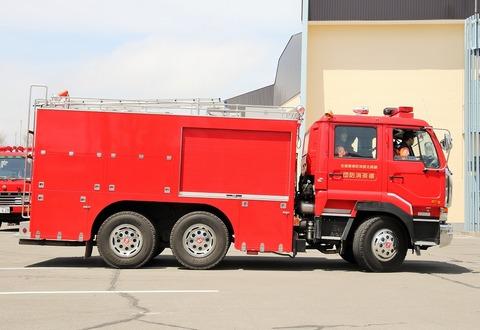 trans5885のblog津市消防本部 支援車桑名市消防本部 救助工作車(桑名41)富山地方鉄道(高速車) 737号車
