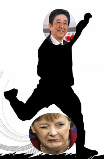 Abenomics is in Merkel's austerity is out