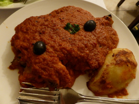 夕食4アフリカンチキン