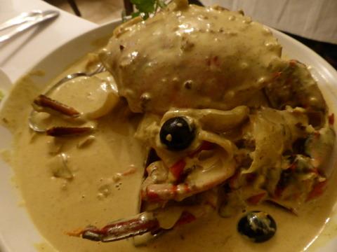 夕食3カレー蟹