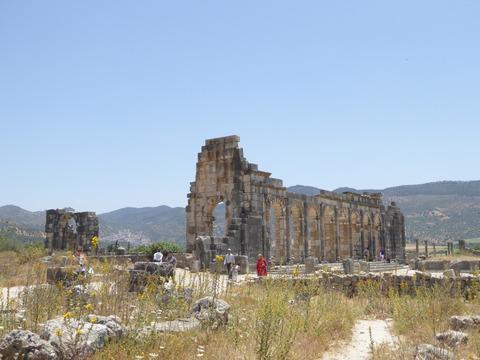 ⑦ヴォルビリス遺跡37 フォーラムとバシリカ礼拝堂