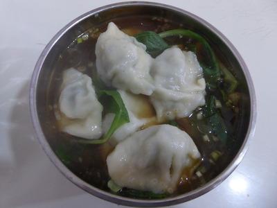 夕食 (2)水餃子