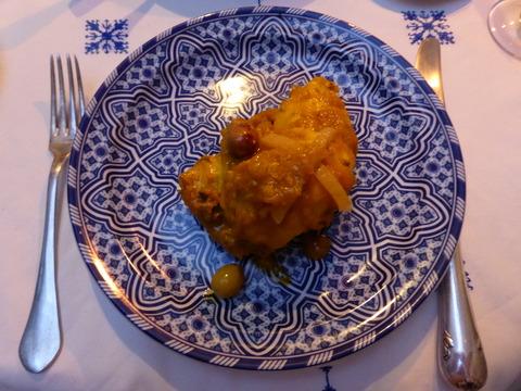 ㉟夕食6 チキンのタジン