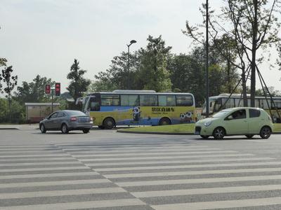 武侯祠行バス (2)