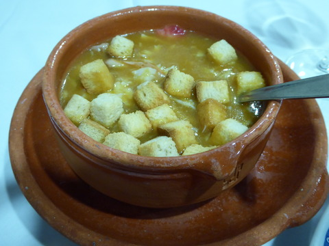 夕食 (4)魚のスープ