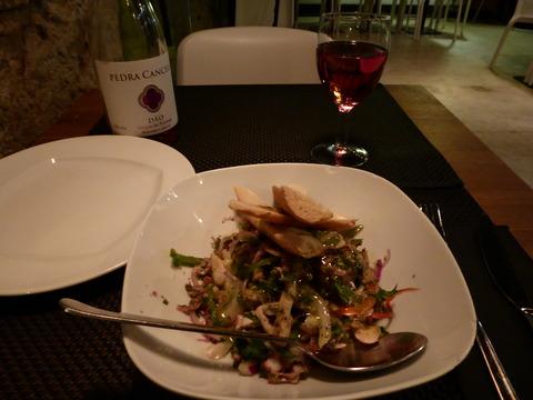 夕食 (4)タコサラダ