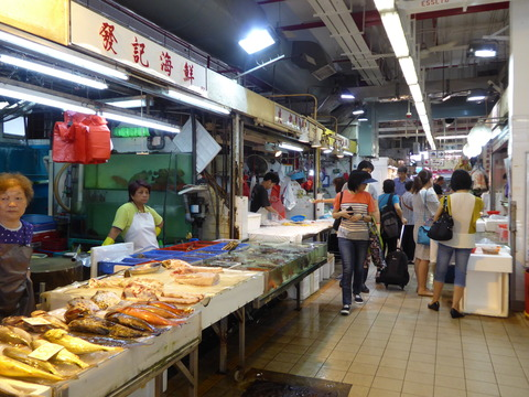 香港の市場 (4)