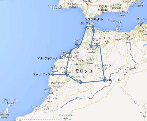 モロッコ地図