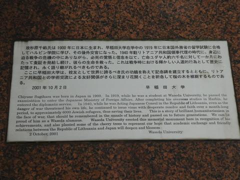 杉原千畝の碑、桜の園 (4)