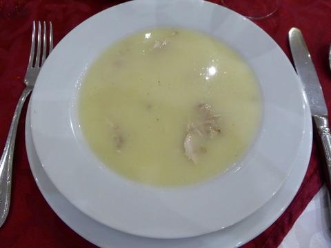 夕食1 チキンスープ