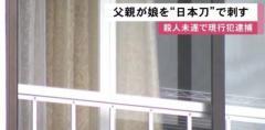 日本刀で17歳娘の背中刺す 殺人未遂容疑で59歳父逮捕