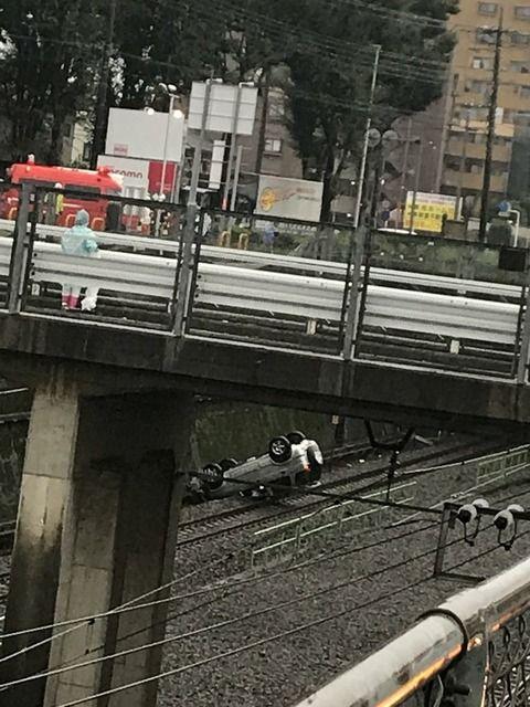 武蔵野線 車転落
