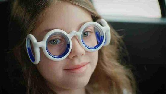 乗り物酔いを防ぐメガネ