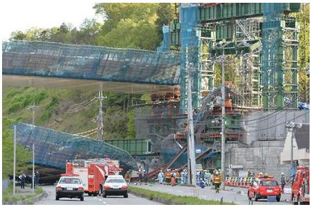 神戸 橋桁落下