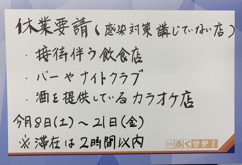 福岡コロナ警報