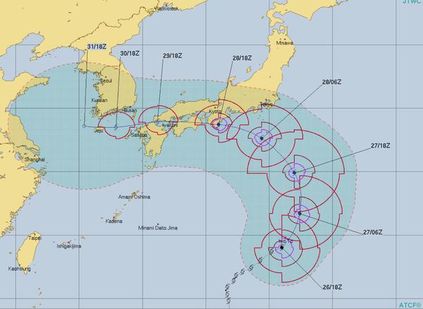 台風12号 進路