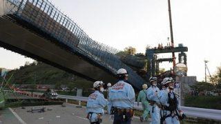 橋桁落下事故
