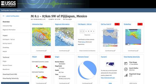 メキシコ 地震