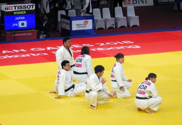 柔道混合団体 金メダル