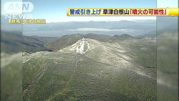 草津白根山噴火