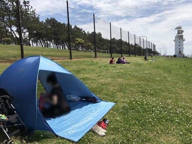 テントを張る