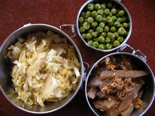 鰯と野菜の甘辛煮