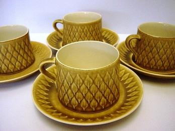 "Kronjyden ""Relief"" Cup&Saucer by Jens H. Quistgaard"